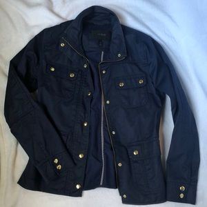J.Crew Size Small Resin Coated Twill Jacket